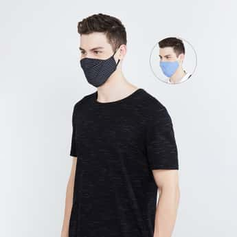 CODE Men 3-Layered Reusable Anti-Microbial Masks - Pack of 2