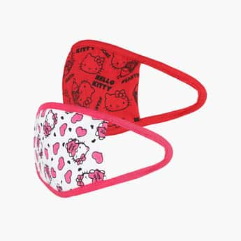 KIDSVILLE Girls Printed Face Mask - Pack of 2