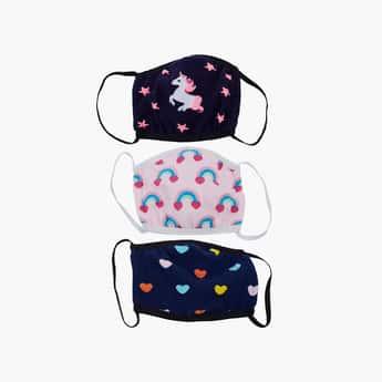 TONIQ KIDS Girls Printed Face Mask- Set of 3