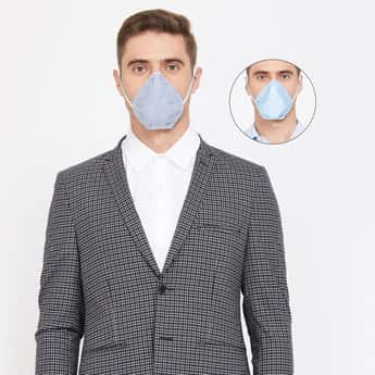 CODE Men Reversible 4-Layer Electrostatic Filteration Mask- Pack of 2