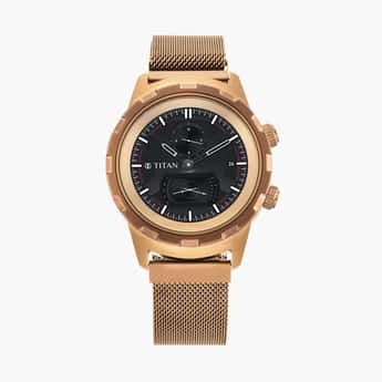 TITAN Connected Men Hybrid Smartwatch with Extra Strap - 90116QM02
