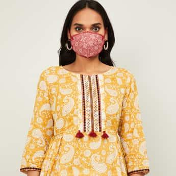 RANGRITI Women Printed Face Mask