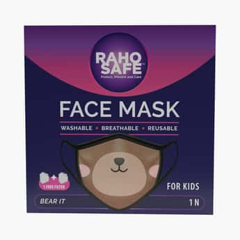 RAHO SAFE Boys Printed 2-Filter Face Mask