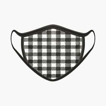 RAHO SAFE Men Checkered 2-Filter Face Mask