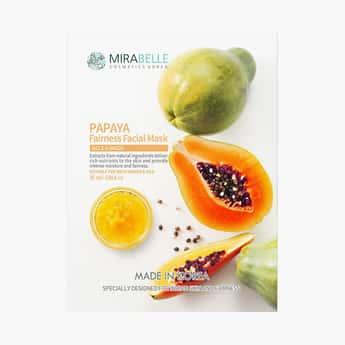 MIRABELLE Korea Fairness Facial Sheet Mask- Papaya