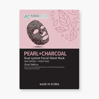 MIRABELLE Korea Dual System Facial Sheet Mask- Pearl + Charcoal