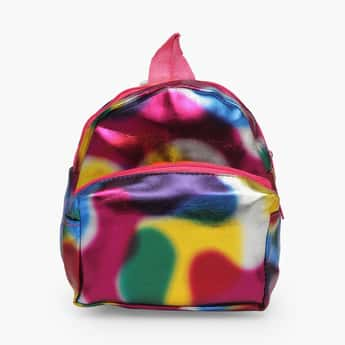 STOLN Girls Metallic Zip-Closure Backpack