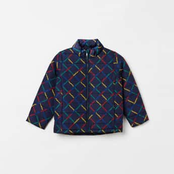UNITED COLORS OF BENETTON Boys Printed Puffed Full Sleeves Jacket