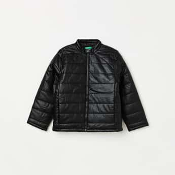 UNITED COLORS OF BENETTON Boys Solid Zip-Front Puffer Jacket