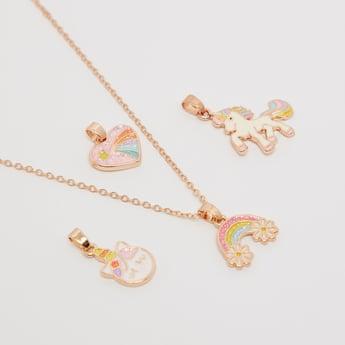 Embellished 5-Piece Pendant Necklace Set