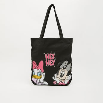 Graphic Print Shopper Bag with Shoulder Strap