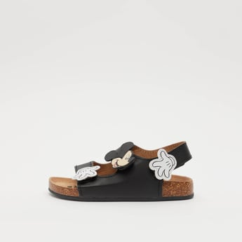 Dual Strap Mickey Mouse Sandals with Hook and Loop Closure