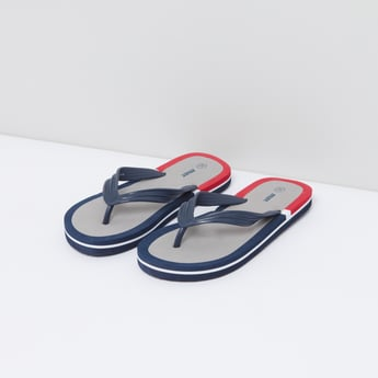 Colour Blocked Flip Flops