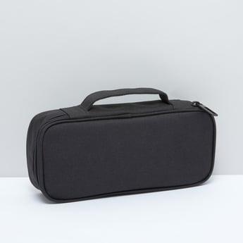 حقيبة تخزين بسحّاب إغلاق ومقبض علوي