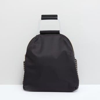 حقيبة ظهر بمقبض علوي وتفاصيل مرصّعة