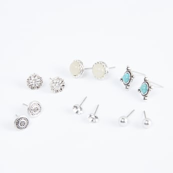 Embellished Studded Earrings - Set of 6