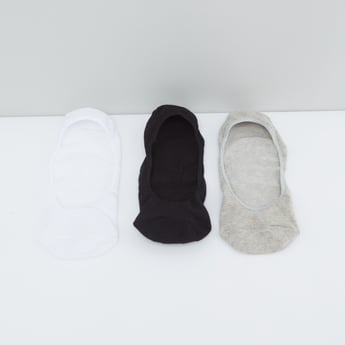 Set of 3 - No Show Socks with Elasticated Hem
