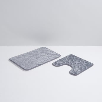 Quilted Memory Foam Contour and Bath Mat Set