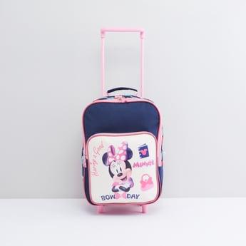 حقيبة ظهر بعجلات بطبعات ميني ماوس مع مقبض قابل للسّحب
