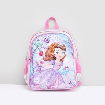 Embellished Backpack with Adjustable Shoulder Straps