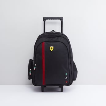 Trolley Backpack with Retractable Handle and Eyelets