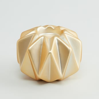 Glazed Tealight Candle Holder with Geometric Pattern