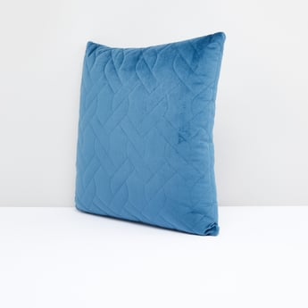 Quilted Filled Cushion with Zip Closure