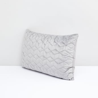 Quilted Rectangular Filled Cushion