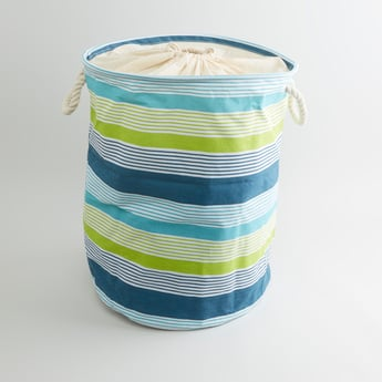 Striped Laundry Hamper