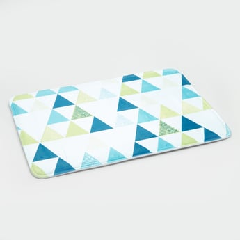 Printed Rectangular Bath Mat