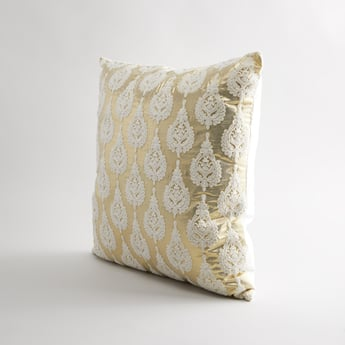 Applique Detail Square Filled Cushion