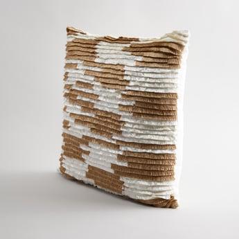 Fringe Detail Square Filled Cushion