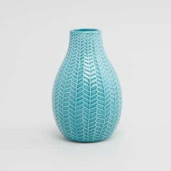Embossed Round Vase - 10 cms