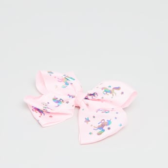Floral Printed Bow Hairpin
