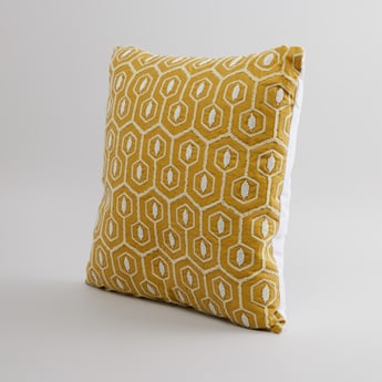 Bead Detail Filled Cushion with Zip Closure