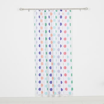 Polka Dot Printed Shower Curtain