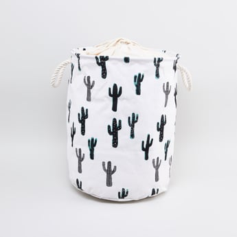 Cactus Printed Laundry Hamper with Handles