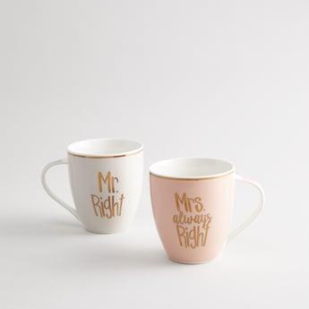 Set of 2 - Printed Mugs with Handle