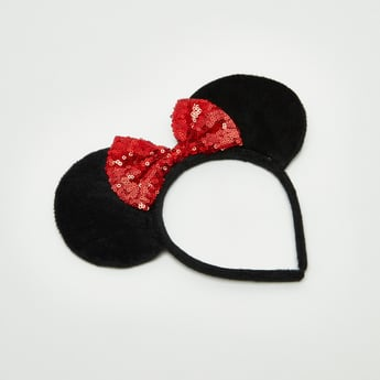 Minnie Mouse Shaped Hair Band with Sequin Detail