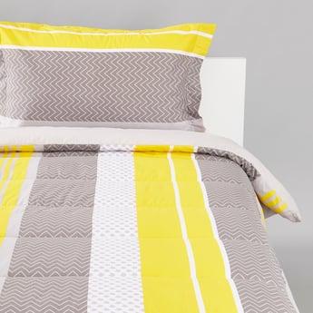 لحاف مع غطاء وسادة بطبعات - 160x220 سم