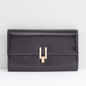 Clutch with Metallic Accent and Chain Strap