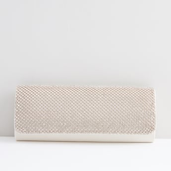 Embellished Clutch  with Chain Strap