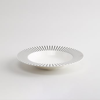 Striped Soup Plate