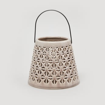 Decorative Handle with Lattice Work and Curved Handle