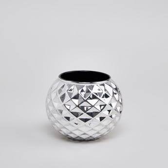 Faceted Round Candle Holder