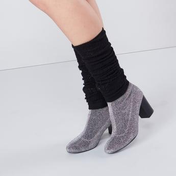 جوارب بارزة الملمس لتدفئة الساق