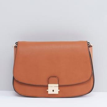 Textured Satchel Bag with Adjustable Straps