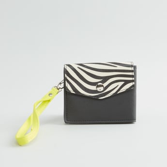 Textured Bi-fold Wallet with Detachable Strap