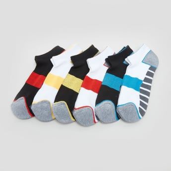 Set of 6 - Striped Ankle Length Socks