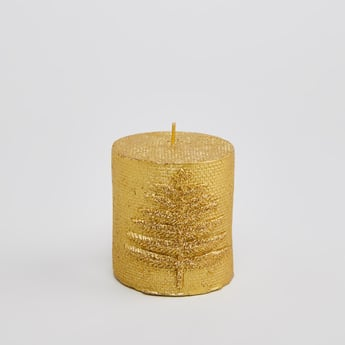 Applique Detail Pillar Candle